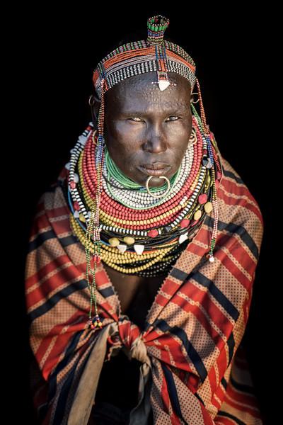 Beaded Nyangatom lady