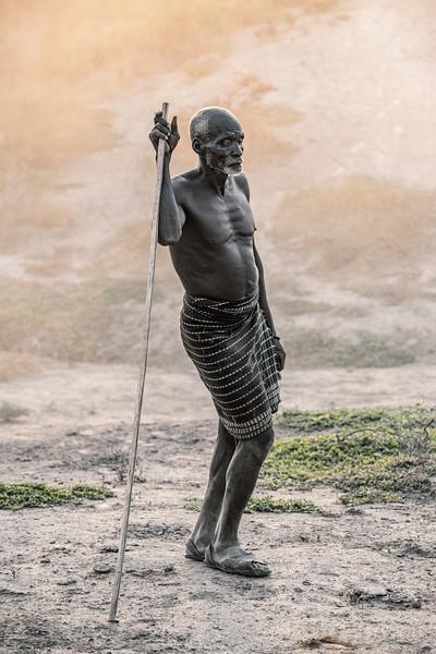 Old shepherd of the Kara tribe