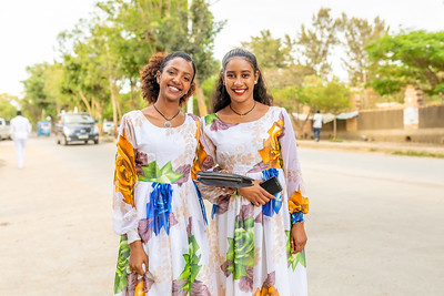 university students on Mekele street