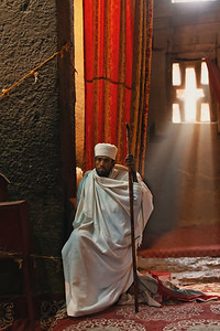 Monk in Lalibela churches, Ethiopia