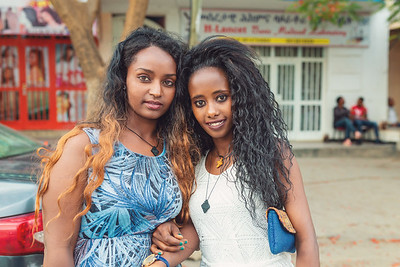 beauty woman's fashionably dressed in Mekele