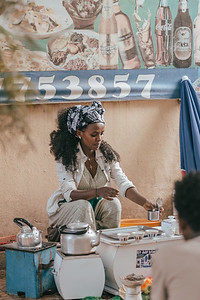 women preparing bunna coffee, Ethiopia
