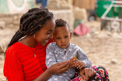 beautiful women with son, Ethiopia