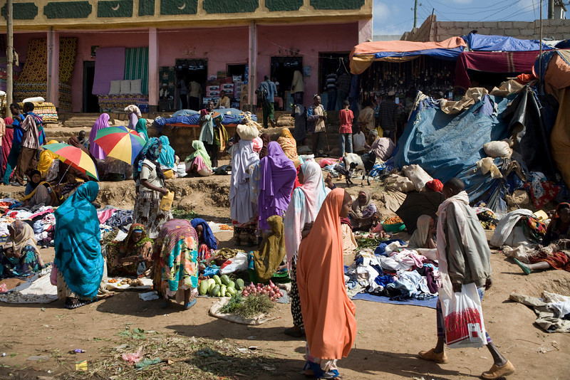 Typical Market in Harar