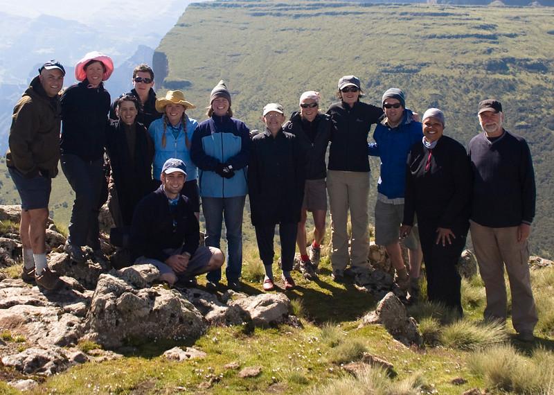 The group before hiking Imet Gogo