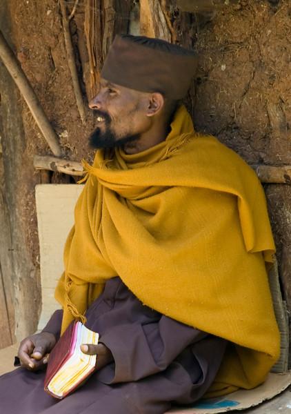 local monk on the island in Lake Tana