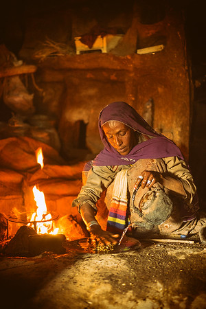 Traditional Ethiopian Coffee Making