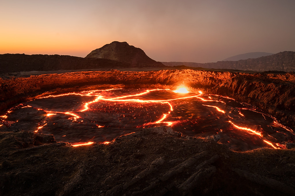 The Orange Glow of the Erta Ale Volcano