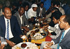 Going Away Party for Solomon Ezra, Addis Ababa, Ethiopia 1990.<br /> Chaim Bynasign is on the left, next to him is Shiferaw Dessie, On the right is Solomon Ezra and next to him Terawork Mekeket.