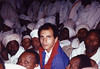 """Andrew """"Andy"""" Goldman with members of the Beta Israel Community in Addis Ababa, Ethiopia 1990 or 1991"""