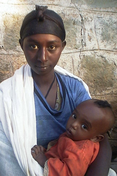 Beta Israel Woman and child on the NACOEJ Compound in Addis Ababa, Ethiopia.