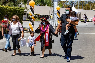 Caption info: College of Ethnic Studies and College of Natural and Social Sciences Commencement Ceremony, Class of 2021. Photos by Jill Connelly/Cal State LA