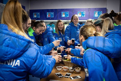 Team Slovenia - Women's EHF EURO 2018, preliminary round game -  Group B - Russia - Slovenia in Palais des sports Jean Weille Nancy, Nancy, France 4.12.2018. Mandatory Credit ©  Uros Hocevar / kolektiff