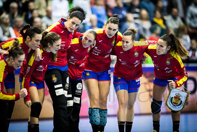 Team Spain - Women's EHF EURO 2018, preliminary round game - Group C - Spain - Croatia in L'Axone, Montbeliard, France, 01.12.2018. Mandatory Credit ©  Uros Hocevar / kolektiff