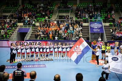 Team Croatia - Women's EHF EURO 2018, preliminary round game - Group C - Croatia - Hungary in L'Axone, Montbeliard, France, 03.12.2018. Mandatory Credit ©  Jozo Cabraja / kolektiff