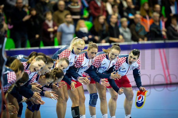 Team Croatia - Women's EHF EURO 2018, preliminary round game - Group C - Croatia - Hungary in L'Axone, Montbeliard, France, 03.12.2018. Mandatory Credit ©  Jure Erzen / kolektiff