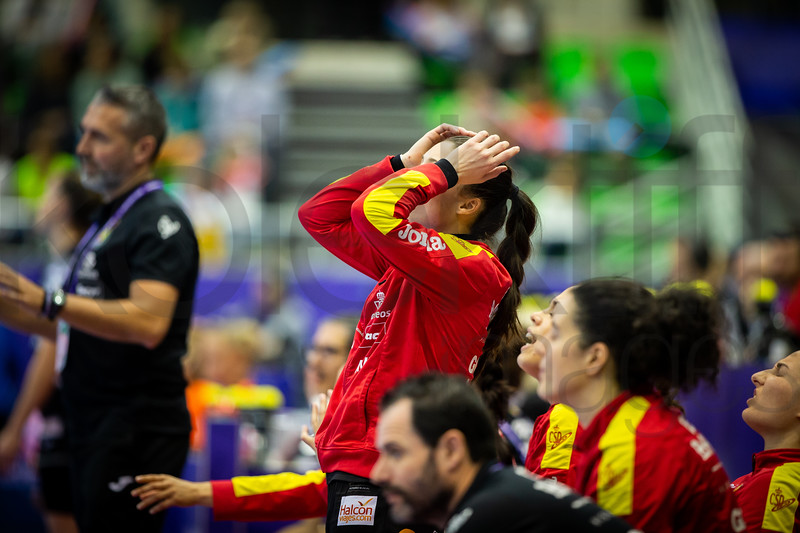 Team Spain - Women's EHF EURO 2018, preliminary round game - Group C - Netherlands - Spain in L'Axone, Montbeliard, France, 03.12.2018. Mandatory Credit ©  Jure Erzen / kolektiff