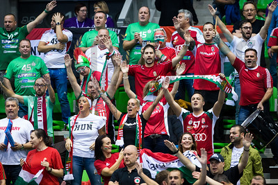 Fans - Women's EHF EURO 2018, preliminary round game - Group C - Hungary - Spain in L'Axone, Montbeliard, France, 05.12.2018. Mandatory Credit ©  Jozo Cabraja / kolektiff