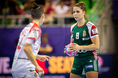 Aniko Kovacsics (8) - Women's EHF EURO 2018, preliminary round game - Group C - Hungary - Spain in L'Axone, Montbeliard, France, 05.12.2018. Mandatory Credit ©  Jozo Cabraja / kolektiff