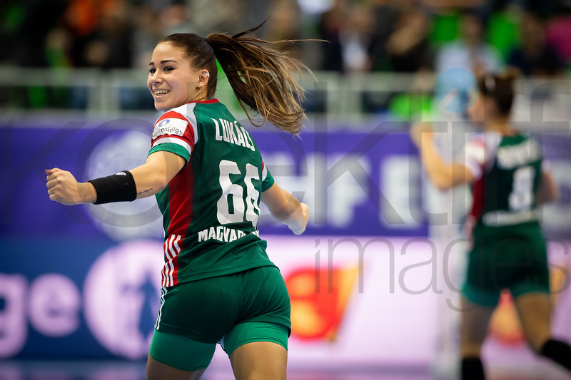 Viktoria Lukacs (66) - Women's EHF EURO 2018, preliminary round game - Group C - Hungary - Spain in L'Axone, Montbeliard, France, 05.12.2018. Mandatory Credit ©  Jozo Cabraja / kolektiff