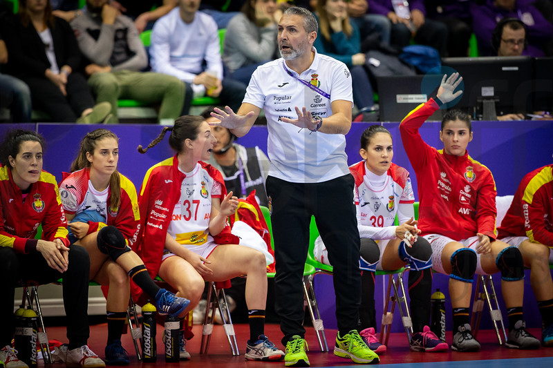 Team Spain - Women's EHF EURO 2018, preliminary round game - Group C - Hungary - Spain in L'Axone, Montbeliard, France, 05.12.2018. Mandatory Credit ©  Jozo Cabraja / kolektiff