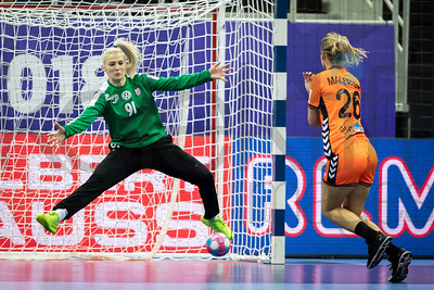 Tea Pijevic (91) and Angela Malestein (26) - Women's EHF EURO 2018, preliminary round game - Group C - Netherlands - Croatia in L'Axone, Montbeliard, France, 05.12.2018. Mandatory Credit ©  Jozo Cabraja / kolektiff