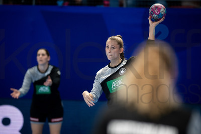 Team Germany - Women's EHF EURO 2018, preliminary round game - Group D - Norway - Germany in Brest Arena, Brest, France, 01.12.2018. Mandatory Credit ©  Nebojsa Tejic  / kolektiff