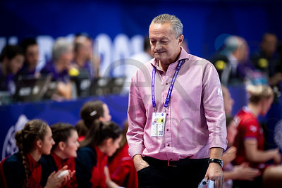 Coach of Team Czech Republic - Women's EHF EURO 2018, preliminary round game -  Group D - Czech Republic - Norway in Brest Arena, Brest, France, 03.12.2018. Mandatory Credit ©  Nebojsa Tejic / kolektiff