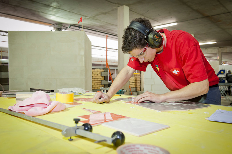 Euroskills 2012. Day 2 2012-10-04<br /> 30 Wall and Floor Tiling
