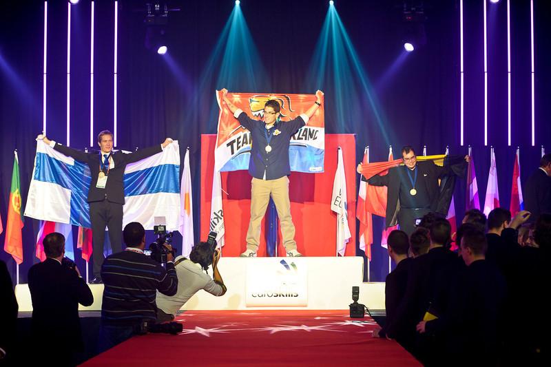Euroskills 2012. 2012/10/07. Closing CeremonyCNC Machining<br /> <br /> Robin Van WijngaardenGold<br /> Ville LehtonenSilver<br /> Mathieu MelasBronze