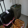 "Traditional ""suitcases waiting eagerly by the front door"" photo"