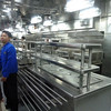 Galley tour - serving stations for appetizers, entrees, etc.