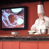 Cooking demonstration in the Queen's lounge: executive pastry chef makes cinnamon buns