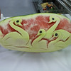Galley tour - fruit carvings (these were later at the Royal Dutch tea)