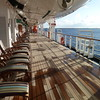 Promenade deck in the early morning