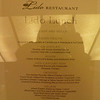 Lido embarkation lunch menu, day 1