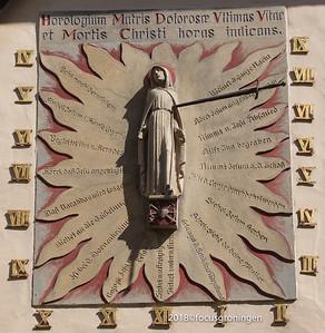 duitsland 2018, telgte, kapel met een beeld van de moeder van smarten