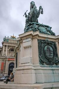 Prinz-Eugen-Reiterdenkmal auf dem Heldenplatz