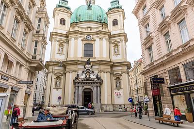 Jungferngasse, Kirche St. Peter,  Wien