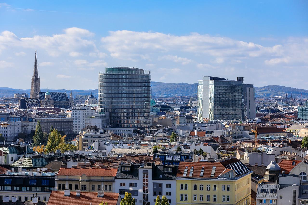 Cityscapes vom Riesenrad im Wiener Wurstelprater