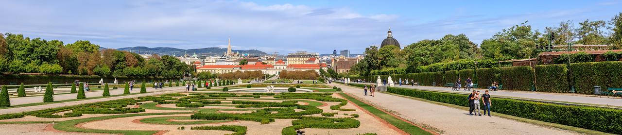 Belvederegarten und Unteres Belvedere, Wien