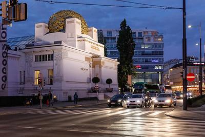 Secession bei Nacht, Wien