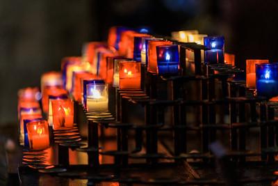 Kerzen in der Basilique Notre-Dame, Lyon