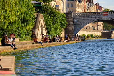 Spätnachmittag am Ufer der Saône, Lyon