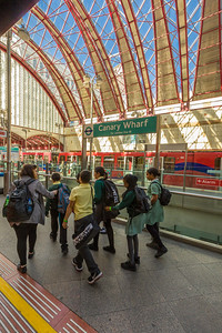 Canary Wharf Station of the Jubilee Line, London