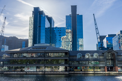 Canary Wharf, London, Millwall Inner Dock, Harbour Exchange