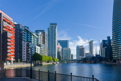 Arena Tower, Canary Wharf, Cityscapes, London, Millwall Inner Dock