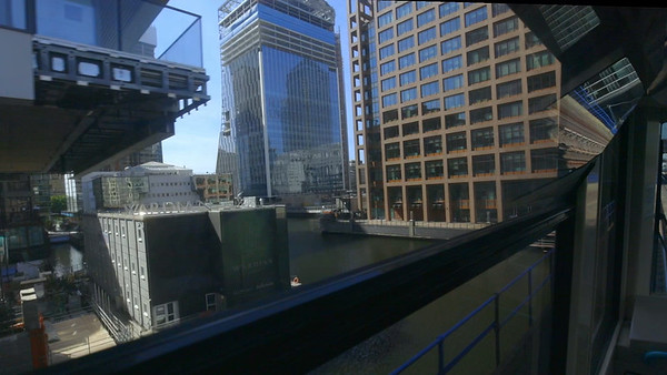 Video Walk abd Tube-Ride in Canary Wharf and Isle Of Dogs, London