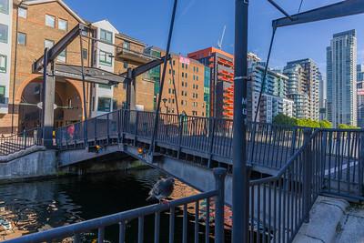 Canary Wharf, London, Millwall Inner Dock, Glengallbridge