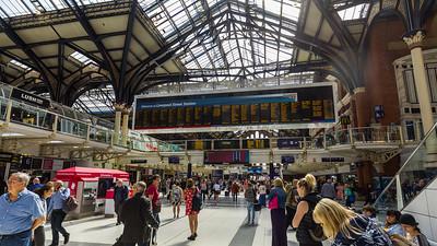 Display Board of Liverpool Street station, London